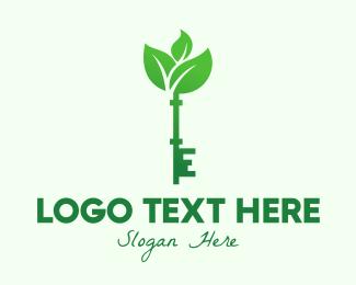 Leaf - Eco Vintage Key logo design
