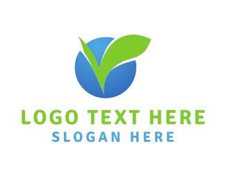 Chewing Gum - Leaf Circle logo design