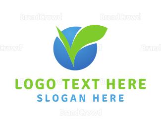 Complete - Leaf Circle logo design