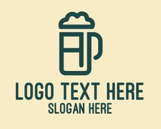 Beer Foam - Beer Pub Letter A  logo design