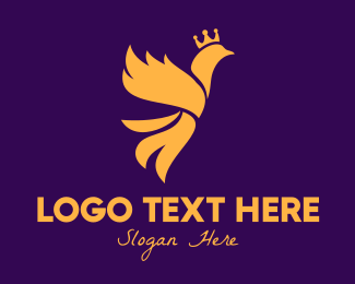 Reign - Golden Royal Phoenix logo design