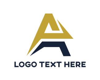 Airline - Yellow Blue Arrow A logo design