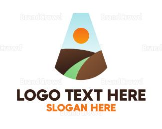 Climber - Minimalist Mountain Letter A logo design