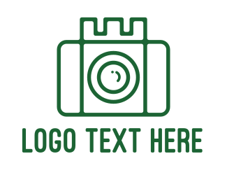 Social Media - Castle Camera Outline logo design