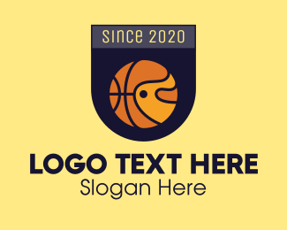 Tourney - Basketball Emblem logo design