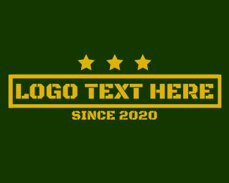 Rank - Army Stencil Stars logo design