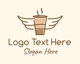 Hot Choco - Angel Coffee  logo design