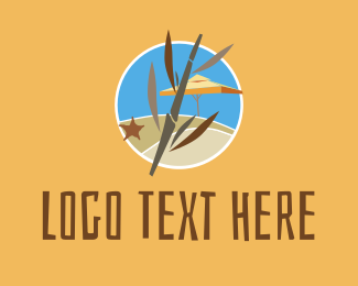 Resort - Beachside Resort Summer logo design