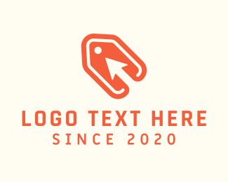 Upward - Orange Arrow Price Tag logo design