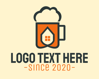 Oktoberfest - Beer Foam House logo design