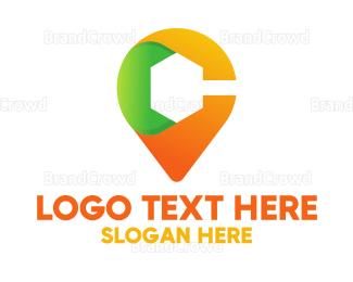 Multicolor - Multicolor Location Pin Letter C logo design