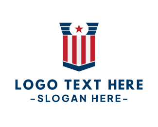 Voting Precinct - Stars And Stripes Voting logo design