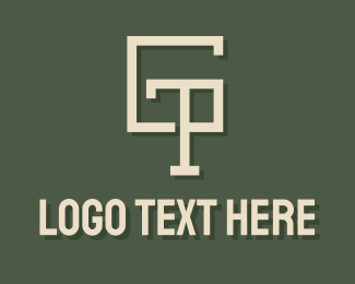 T - Geometric Letter GTP logo design