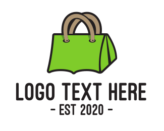 Explore - Green Tent Bag logo design