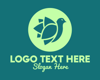 Environment - Green Eco Bird logo design