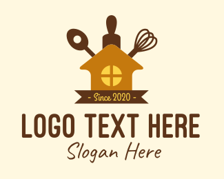 Rolling Pin - House Kitchenware logo design