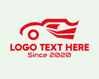 Delivery Service - Red Delivery Car logo design