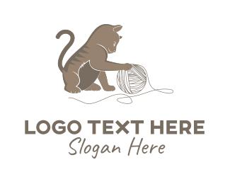 Vet - Little Cat logo design