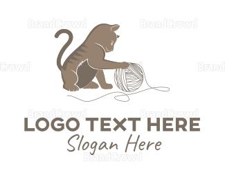 Adorable - Little Cat logo design