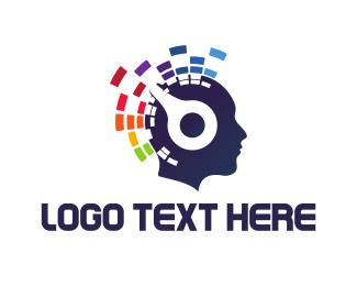 Human - Electronic Music logo design