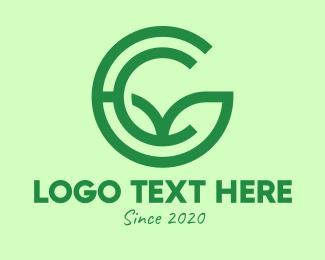 Letter C - Green Environmental Letter C logo design