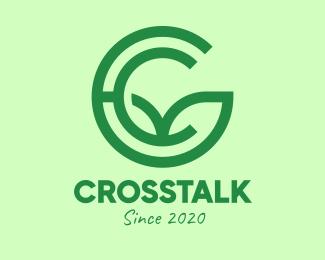 Random Green Environmental Letter C logo design