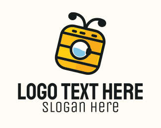 Bee Washing Machine Logo Maker
