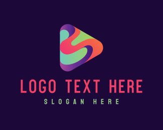 App - Colorful Wave Player App logo design