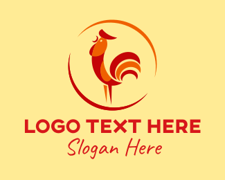 Bird - Rooster Chicken Restaurant  logo design