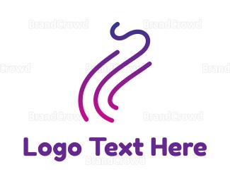 Activity - Gradient Purple Smoke Outline logo design