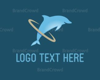 Jump - Dolphin Hoop logo design