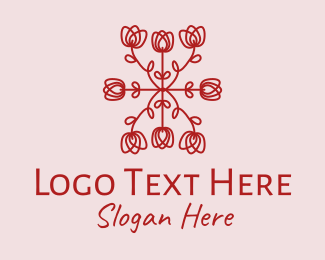 Event Styling - Red Rose Pattern logo design