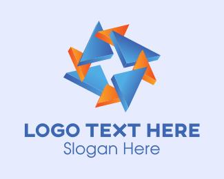 3d Printing - Triangle Star logo design