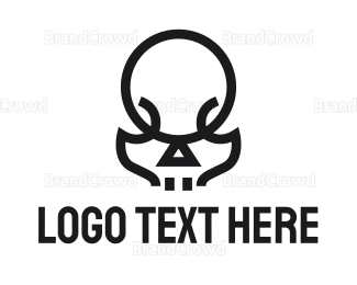 Apex - Modern Skull Outline logo design