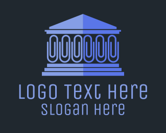 Court - Blue Clip House logo design