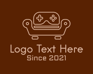 Controller Pad - Game Console Sofa logo design