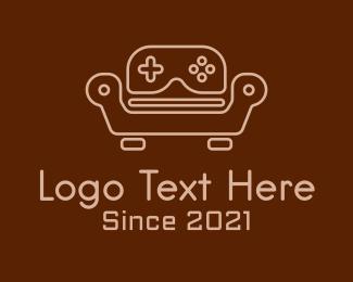 Console - Game Console Sofa logo design