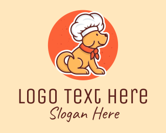 Dog Training - Pet Dog Food Chef  logo design