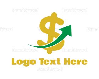 Currency - Dollar Arrow logo design