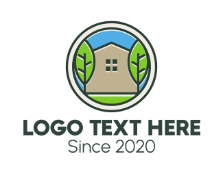 Service - Green House Patch logo design