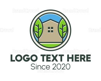 Decoration - Green House Patch logo design