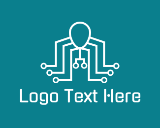 Networking - Robot Octopus logo design