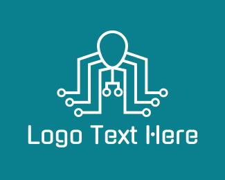 Robotics - Electronic Robot Octopus logo design
