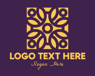 Detail - Golden Mandala Flower logo design