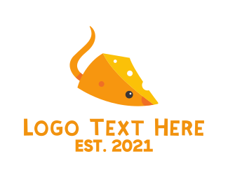 Yellow Cheese - Cheese Mouse logo design