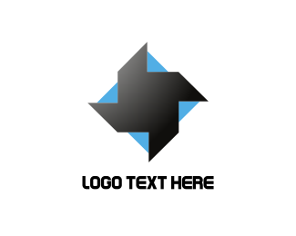 Black And Blue - Blue & Black Helix logo design