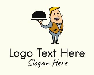 Waiter - Waiter Server Mascot logo design