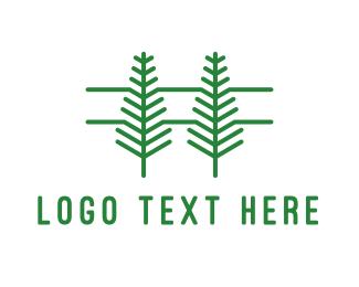 Tree - Pine Tree Outline logo design