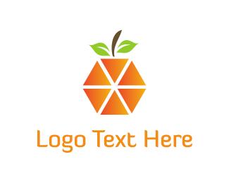 Flavor - Orange Triangles logo design