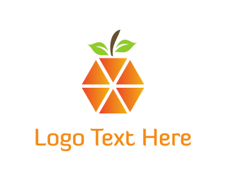 Citric - Orange Triangles logo design